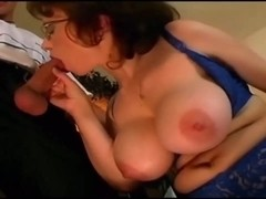 Big Tits Lonely Stepmom ended up fucking the waiter