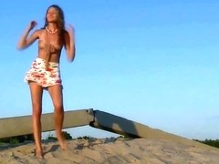 Nastya - from Russia - on a Dune