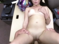 Cuban angel receives screwed afer her tv falls so her panty falls likewise