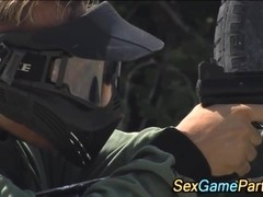 Paintball group fucking