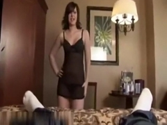 So sexy brunette girlfriend surrender to cock and accept this video,damn!