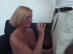 voluptuos golden-haired plays with her toy fella