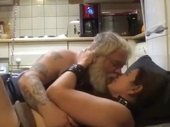 Chubby mature woman fucked by old man