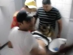 A group of naughty immature guys fucking this poor girl