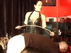 hard caning castigation