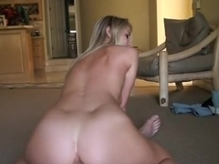 Sweet golden-haired cutie wishes a knob
