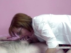 Redhead MILF Layla Redd lifts her skirt to get banged