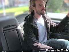Female cab driver gaggs big cock