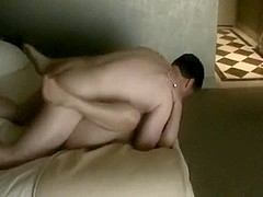 Cuck watches his housewife with bull