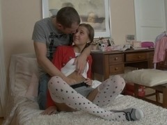 Germiona in stockings sex video featuring a nice-looking babe
