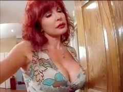 Redhead mother i'd like to fuck Vanessa seduces youthful BBC