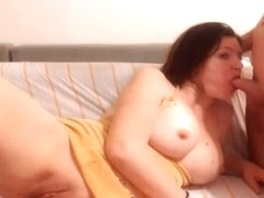 Naughty Babe Gets Mouth and Pussy Fuck