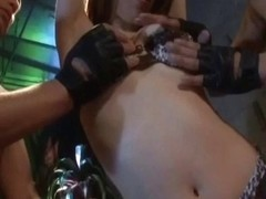 Koyuki Hara naughty Asian babe gives amazing double blo