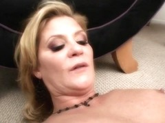 Sensual Ally Kay nibbles on Ginger Lynns moist pussy