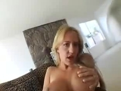 Trina with Fishnet and 2 black Cocks