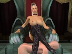 Tall busty blonde dominatrix animated by tallmistresslover