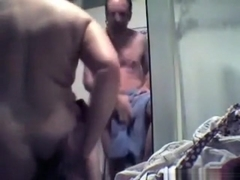 German mature couple makes a sextape in the shower