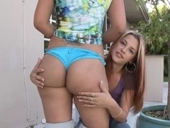 Monica seduces her hot friend into a leasbian session
