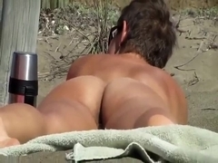 Nude Beach - Hairy Ass