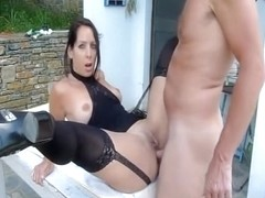 Amateur anal fucking outdoor