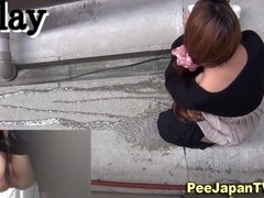 Japanese babes ###ing in piss alley