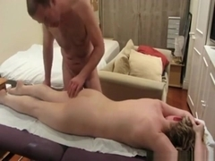 Dude gives his gf a massage, eats out her pussy and fucks her missionary.