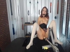 Mistress with Nipple Clamps and Ball Gags uses her Body