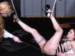 Dirty Marys lesbian bondage and electro bdsm of redhead
