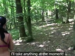 Girlfriends Blonde and brunette eat pussy in the woods