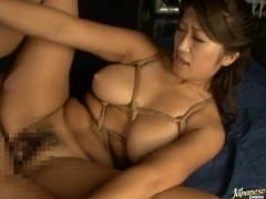The kinkiest babe on earth is called Miu Nishiki and gets a double penetration.