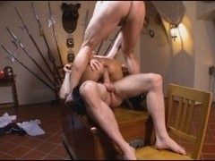 Russian Golden-Haired double penetration