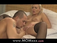 Blonde MILF's and their lovers