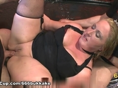 666Bukkake Video: Carisma In The Piss Laboratory