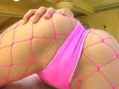 Give Me Pink Kelly gets oiled up rubs slit and pisses the floor