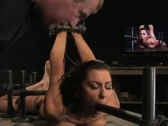 Princess DonnaTrapped in a hard metal hogtiefinger fucked to orgasm