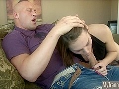 TS prostitute Jade Downing blowjob and anal pounded