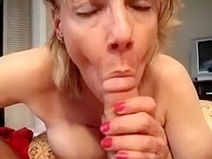 In the video, I'm getting a bj from an amateur blonde