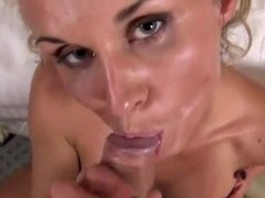 Blonde Whore MILF in Gangbang
