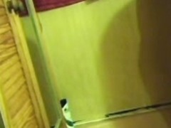 Cleaning lady spy shower