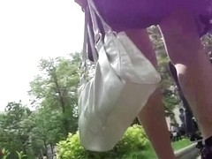 This hot upskirt video contains classy legs and nice butt