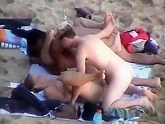 Nudist Groupsex Party At The Beach