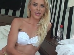 Stunning blonde Cameron Canada gets filmed outdoor