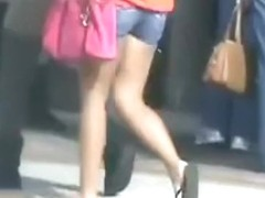 Candid teen Asses on street