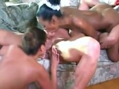 Horny Mother Fucks Young Black French Maid!