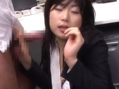 Yume Kyono hot Asian milf in an office suit gets DP