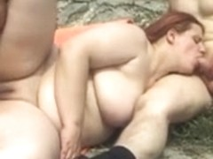 Redhead-big beautiful woman-Doxy anal in Outdoors-3Some