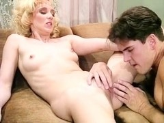 Melanie Moore, T.T. Boy in skinny blonde fucks a producer of classic sex film