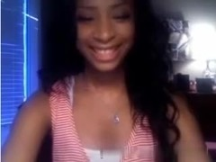 Beautiful black immature playing with me on webcam