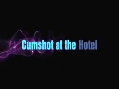 Nice cumshot at a hotel prior to a party
