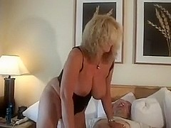Older housewife with sex serf